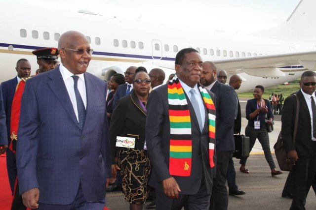AS HOSPITALS ARE DESERTED, Mnangagwa Takes Private Jet For A Spin