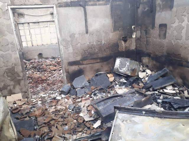 HARARE HOUSE GOES UP IN SMOKE
