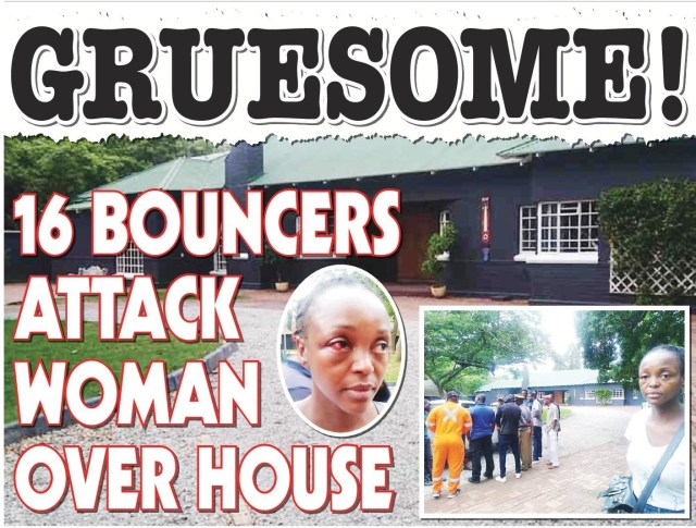 Gruesome...16 Bouncers Attack woman over House