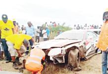 Boy dies in freak racing accident