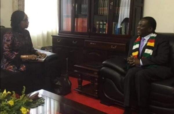 Mnangagwa meets World Bank boss at Munhumutapa Offices