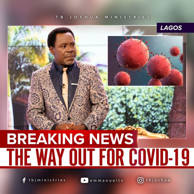 Why are ministers of God not praying for coronavirus patients? Prophet TB Joshua Answers!