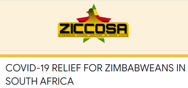 COVID-19 Relief For Zimbabweans In South Africa Application Form