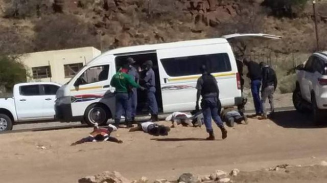 South Africa police arrest three suspected Zimbabweans and six South Africans after foiling an armed robbery in Atok, Limpopo province, last Friday
