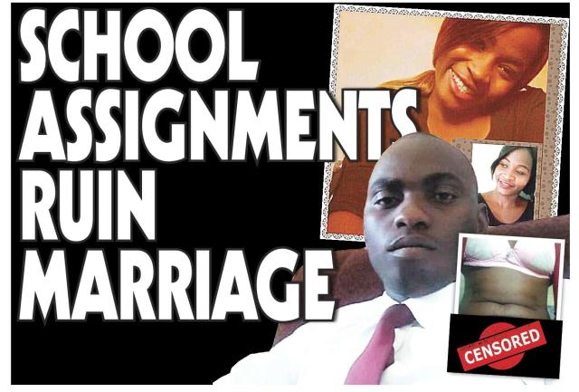 COLLEGE ASSIGNMENT ENDS MARRIAGE