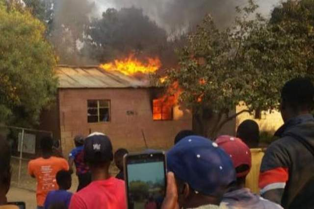 Man burns aunt's house after madzibaba tells him she is a witch