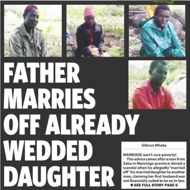 Man marries off married daughter to another man