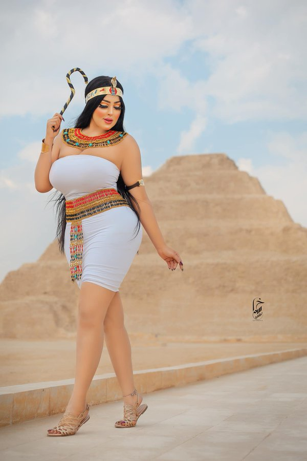 Egyptian Socialite Arrested For Posing In front Of A Pyramid