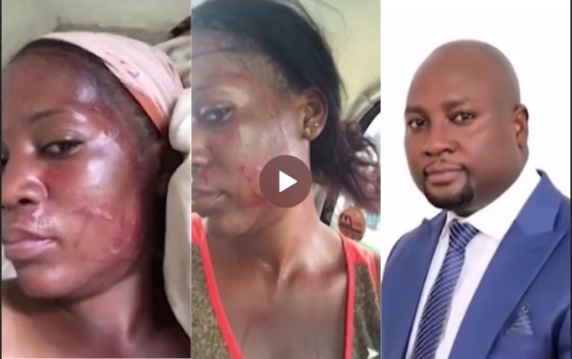 Baby Mama beaten by Baby daddy and wife for demanding rent!