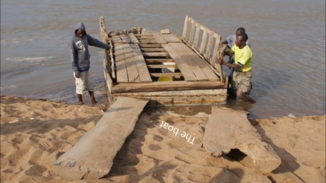 Smugglers Construct Wooden Bridge Across Limpopo River