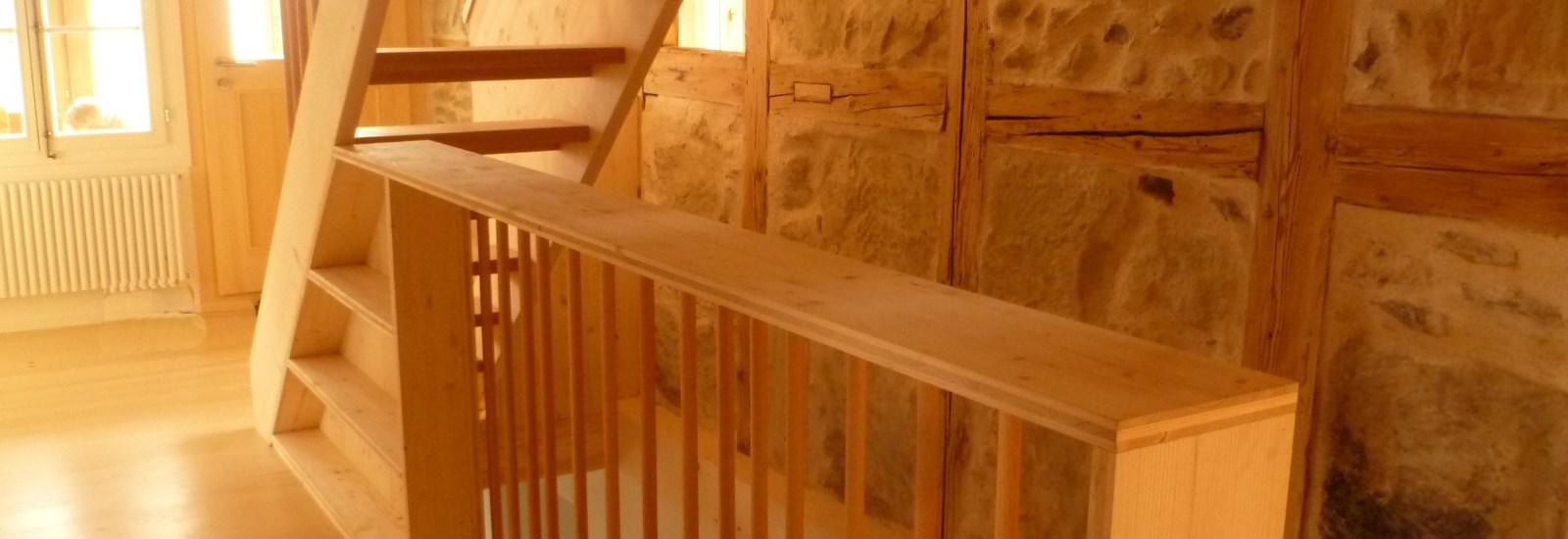 Treppen mit integriertem Gestell