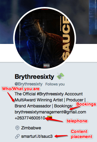 Brythreesixty Twitter Set Up