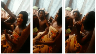 Photo of DRAMA as married woman caught red-handed – refuses to get out of the house