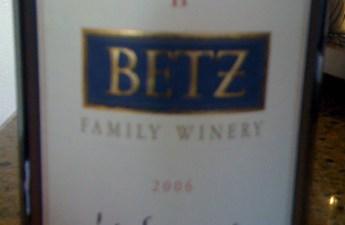 2006 Betz La Serenne Syrah