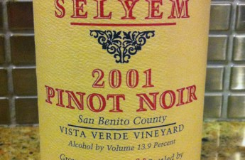 2001 Williams Selyem Pinot Noir