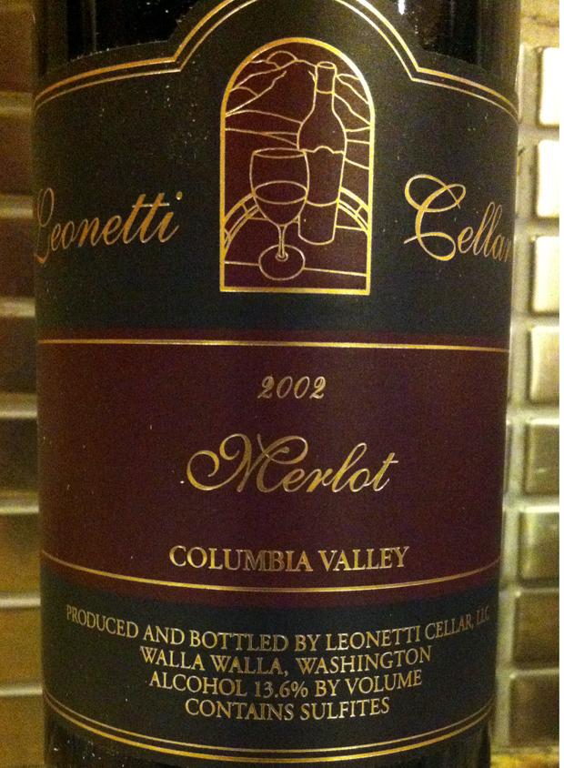 2002 Leonetti Merlot - Bottle Notes | Zinfandel Chronicles