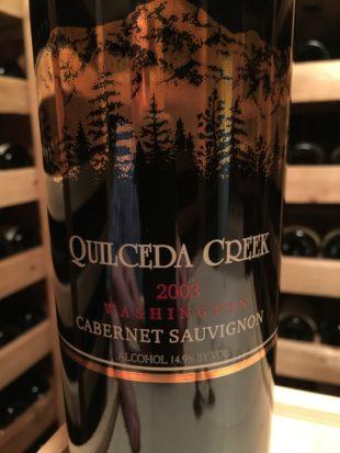 2003 Quilceda Creek Cabernet Sauvignon Bottle Notes
