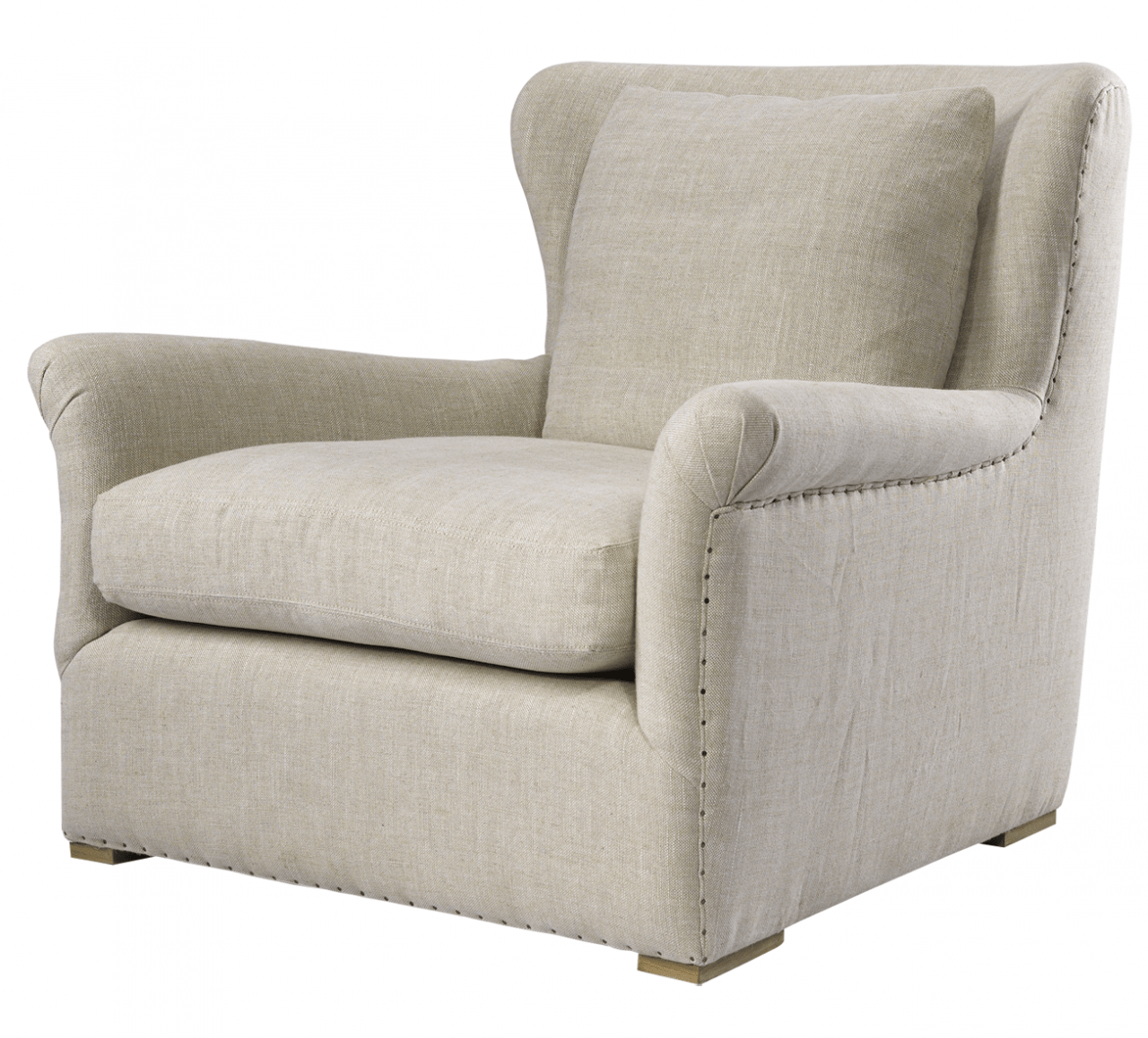 Wing Back Linen Upholstered Sofas And Chairs Zin Home