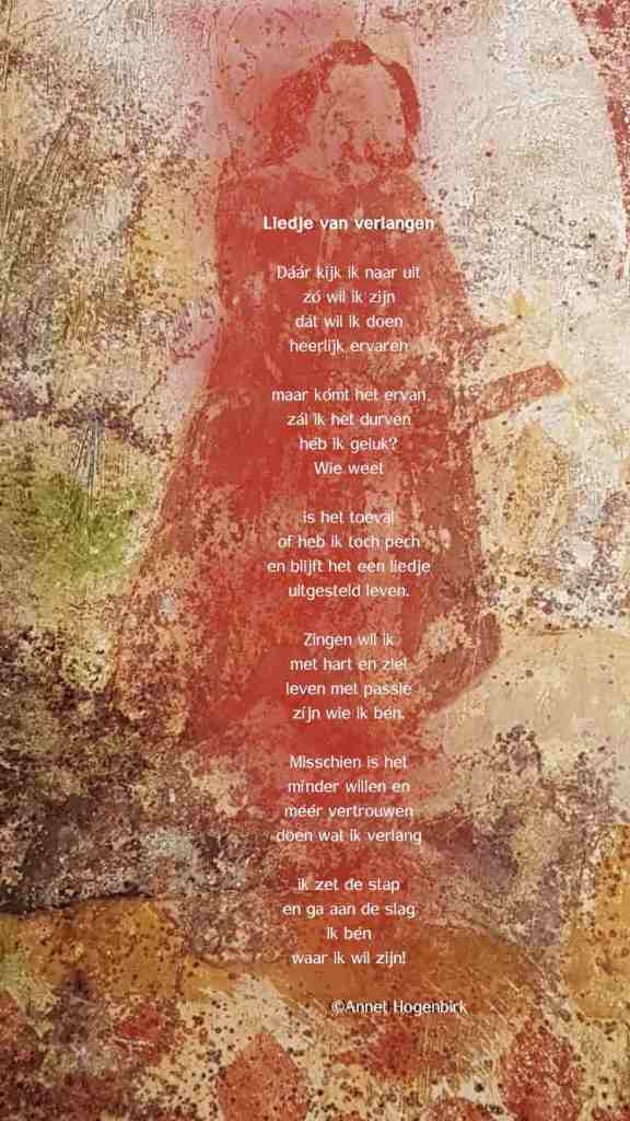 Liedje van Verlangen, gedicht Annet hogenbirk