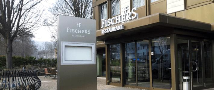 Kurparkhotel Kassel/Fischers Restaurant – neue Außenwerbung
