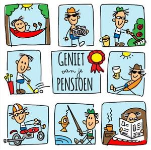 Pensioen kaartje met tekst