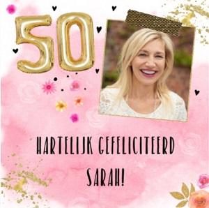 Sarah 50 jaar teksten