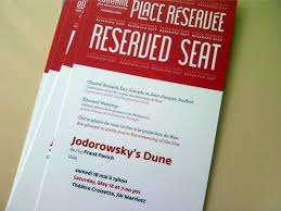 Photo of a ticket for a reserved seat to see Jodorowsky's Dune
