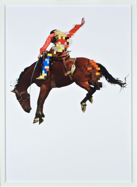 Jumping rodeo, 50x70cm, stampa digitale e lego, 2015