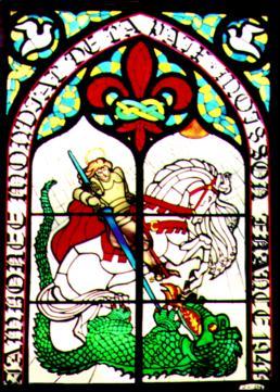 vetrata: San Giorgio - Jamboree della Pace 1947