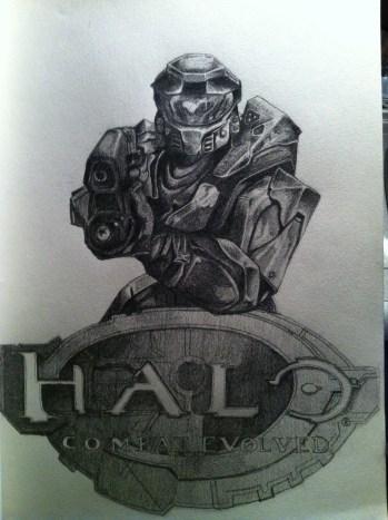 Halo Sketch Step 7