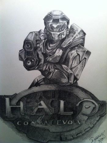 Halo Sketch Step 8