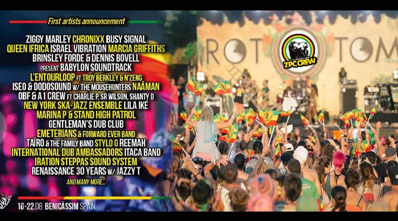 Rototom Sunsplash 2019: Ziggy Marley, Chronixx y Busy Signal