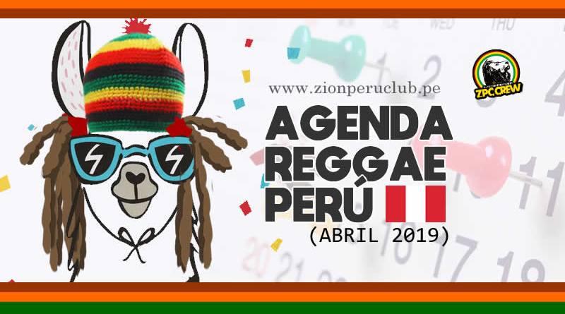 AGENDA REGGAE ABRIL 2019