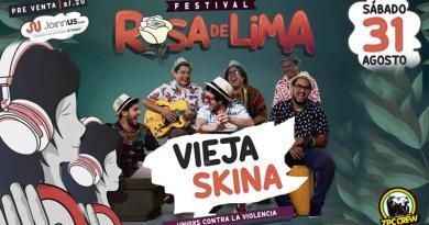FESTIVAL ROSA DE LIMA: VIEJA SKINA y 12 grandes artistas unidos contra la violencia de género