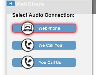 Audio Connection Menu