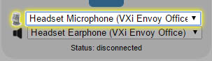Device Selection Microphone Highlight