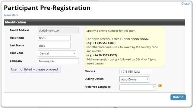Preregistering a single participant