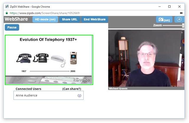 Webshare Webcam Presenter View