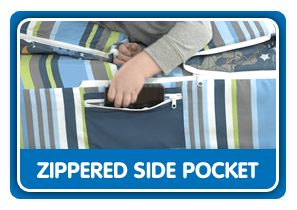 Zippered Side Pockets