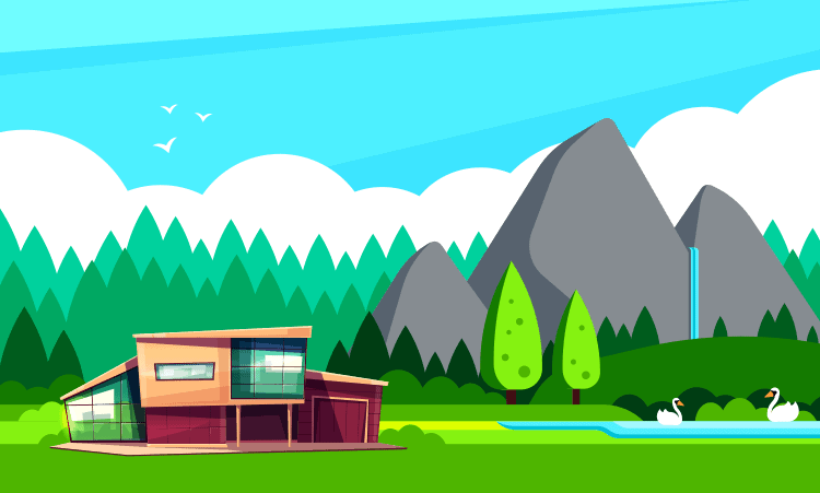 living in a mountains