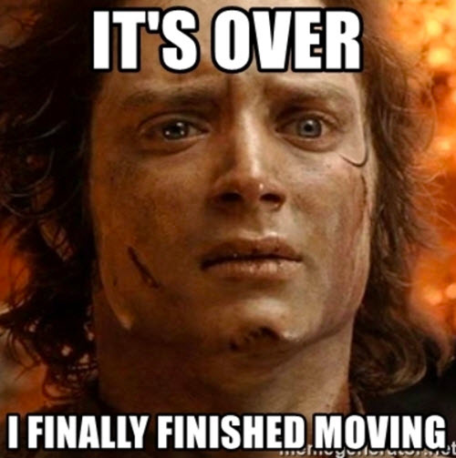 Its over I finally finished moving