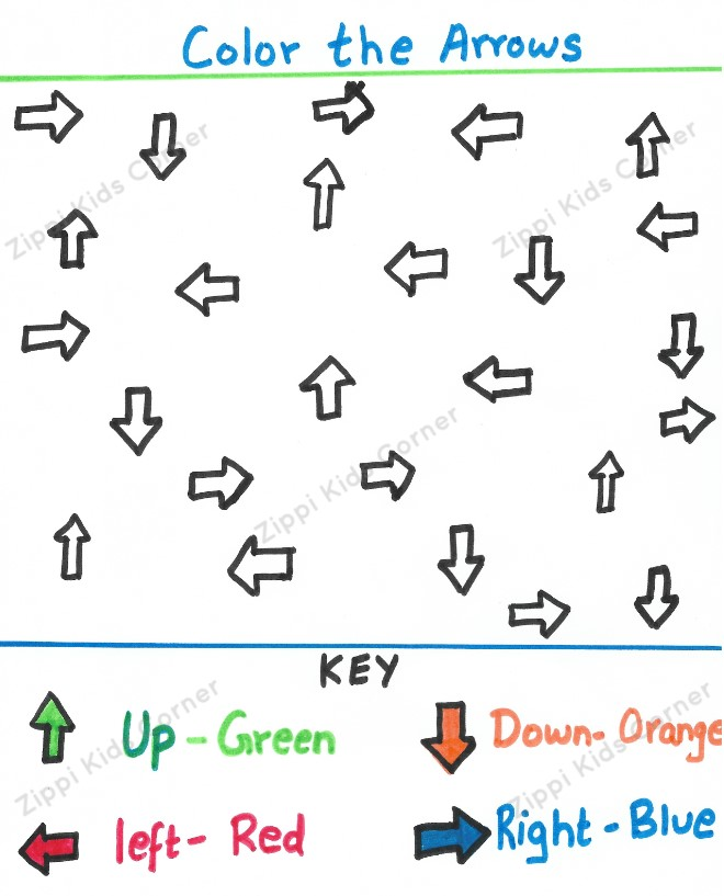 Choose the correct directions worksheets
