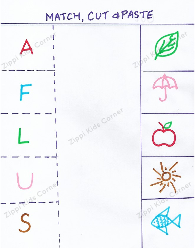 Beginning sound of letters DIY Worksheets for NURSERY LKG UKG AND PRESCHOOL