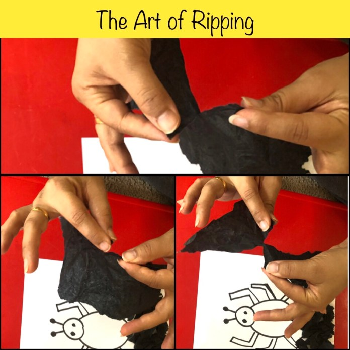 The Art of Ripping Paper, fine motor activity