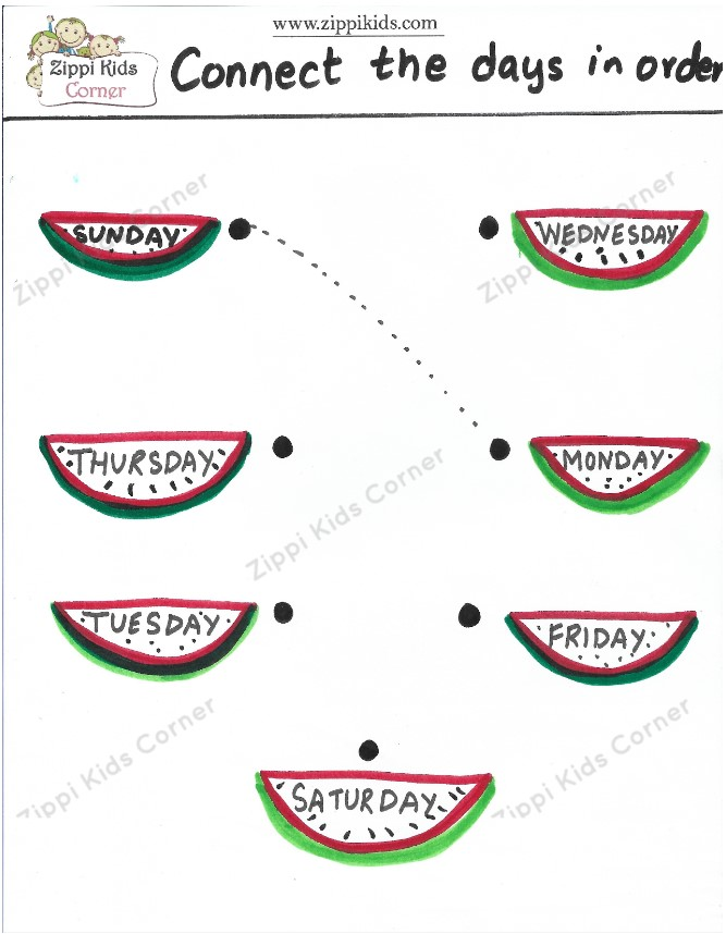 Count the Days of the week worksheet