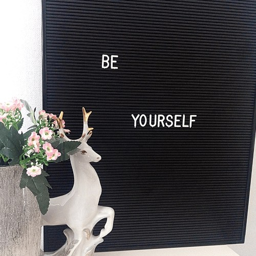 be yourself letters on a letter board