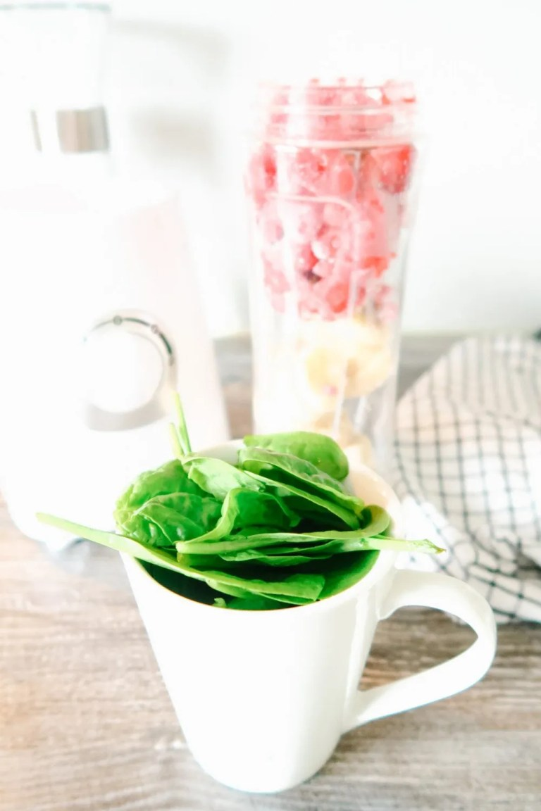 blender and spinach