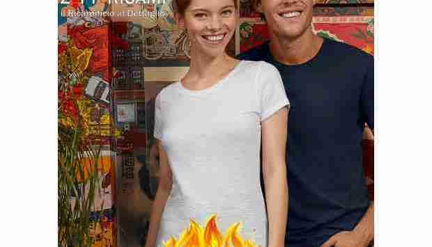 La maglietta più leggera, è la maglietta che ha la fiamma…