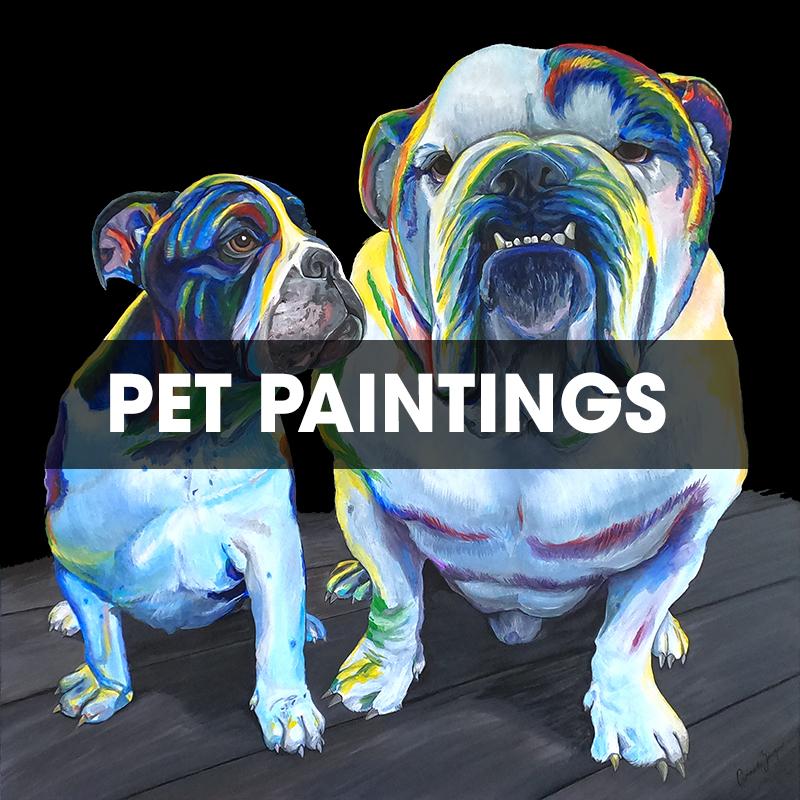 Custom Pet Paintings TITLE
