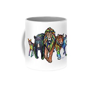 Rainbow Animals Mug